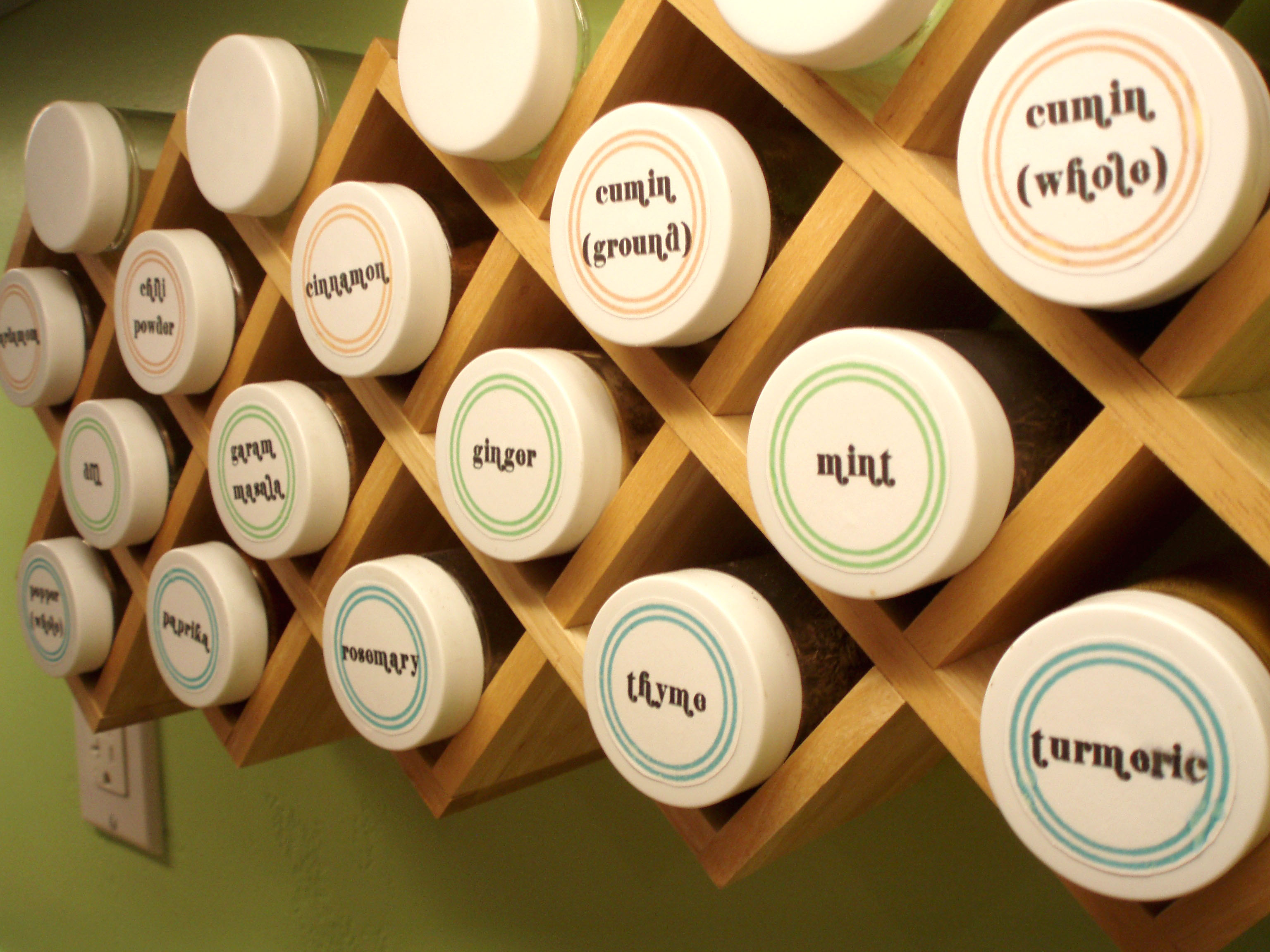 Labels: Round Labels For Spice Jars